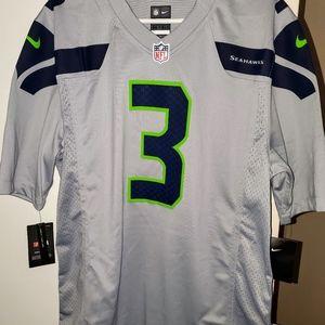 Nike Russell Wilson Jersey Seahawks, NFL Wolf Grey